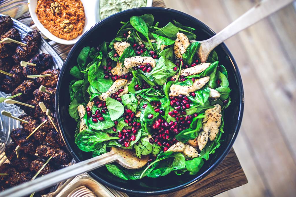 Full food salad healthy lunch