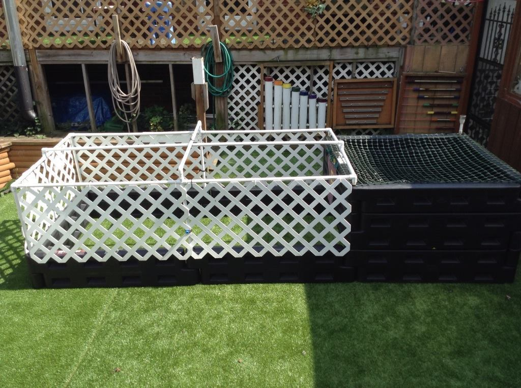 Full combo raised bed and composter